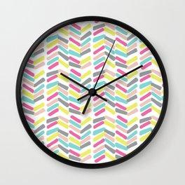 Summer Painted Bars Wall Clock