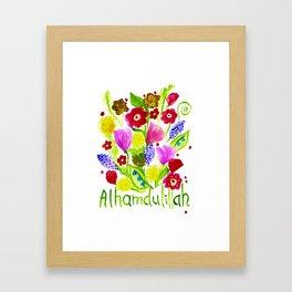 Alhamdulillah Framed Art Print