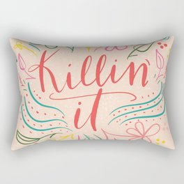 floral killin' it Rectangular Pillow
