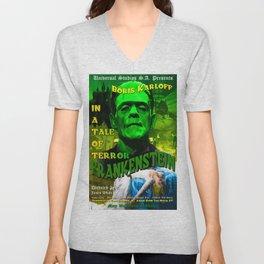 Frankenstein Movie Boris Karloff Unisex V-Neck