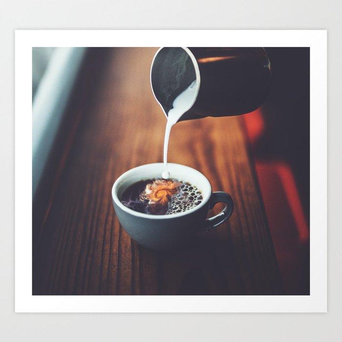 Dreams In My Coffee Art Print