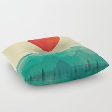 The ocean, the sea, the wave Floor Pillow
