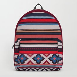 (N21) Moroccan Bohemian Colored Oriental Traditional Artwork Backpack