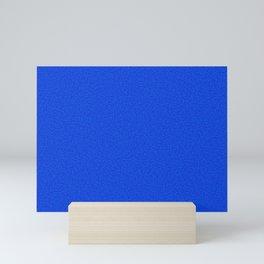 Rough Texture - Plain Royal Blue Mini Art Print