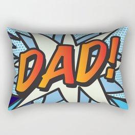 Comic Book DAD! Rectangular Pillow