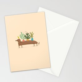 Dachshund & Parrot Stationery Cards