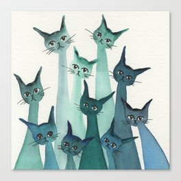 Knoxville Whimsical Cats Canvas Print