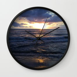Blue Sunset Wall Clock