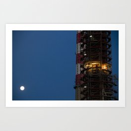 Working with the moon Art Print