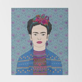 Frida Kahlo Throw Blanket