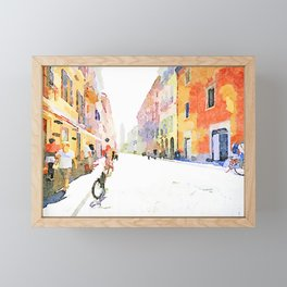 Teramo: course Framed Mini Art Print