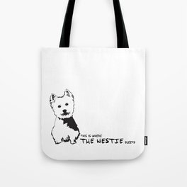 Westie Westhighland Terrier artwork Tote Bag