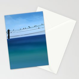 Cretan Sea & Birds I Stationery Cards