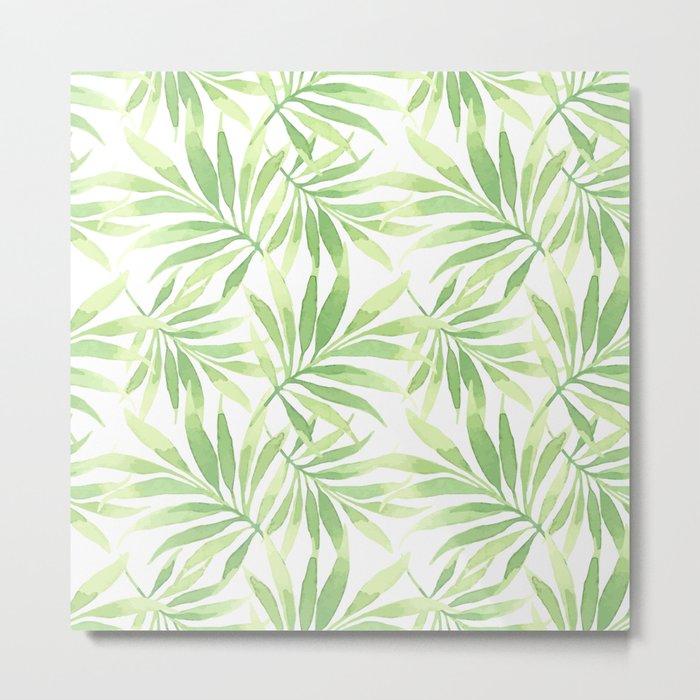 Tropical Branches Pattern 10 Metal Print