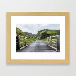 Winnats Pass Derbyshire Framed Art Print