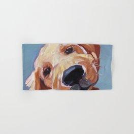 Golden Retriever Puppy Original Oil Painting Hand & Bath Towel