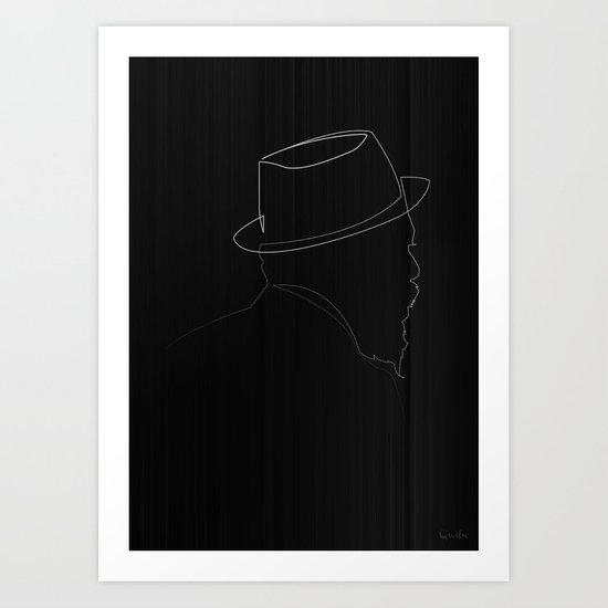 One line Thelonious Monk Art Print