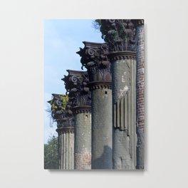 Windsor Plantation Fire Ruins, Gibson, Mississippi, Fine Art Photo Metal Print