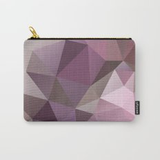 Abstract background of triangles polygon wallpaper in pink beige colors Carry-All Pouch