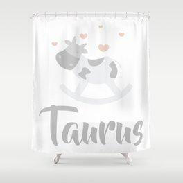 Taurus April 20 - May 20 - Earth sign - Zodiac symbols Shower Curtain