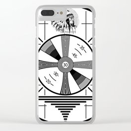 Indian-Head Test Pattern Clear iPhone Case