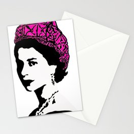 The Queen and the pink pussy hat Stationery Cards