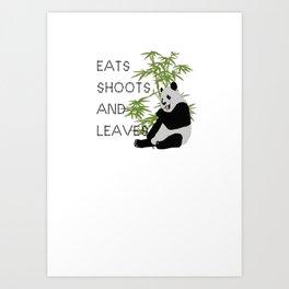 Eats, Shoots and Leaves Art Print