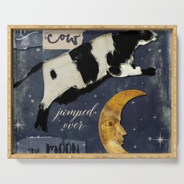 Cow Jumped Over The Moon Serving Tray