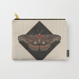 Moth Vintage Style Illustration Carry-All Pouch