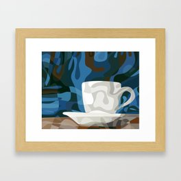 Cup on the Counter Framed Art Print