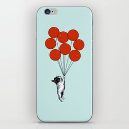 I Believe I Can Fly French Bulldog iPhone Skin