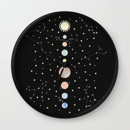 For You - Solar System Illustration Wall Clock