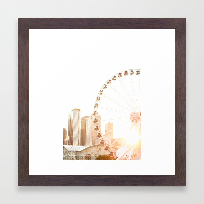 Chicago\'s Ferris Wheel Framed Art Print by diyplaybook   Society6