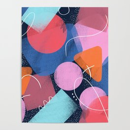 Bright Shapes Poster