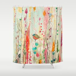 this strange feeling of liberty Shower Curtain