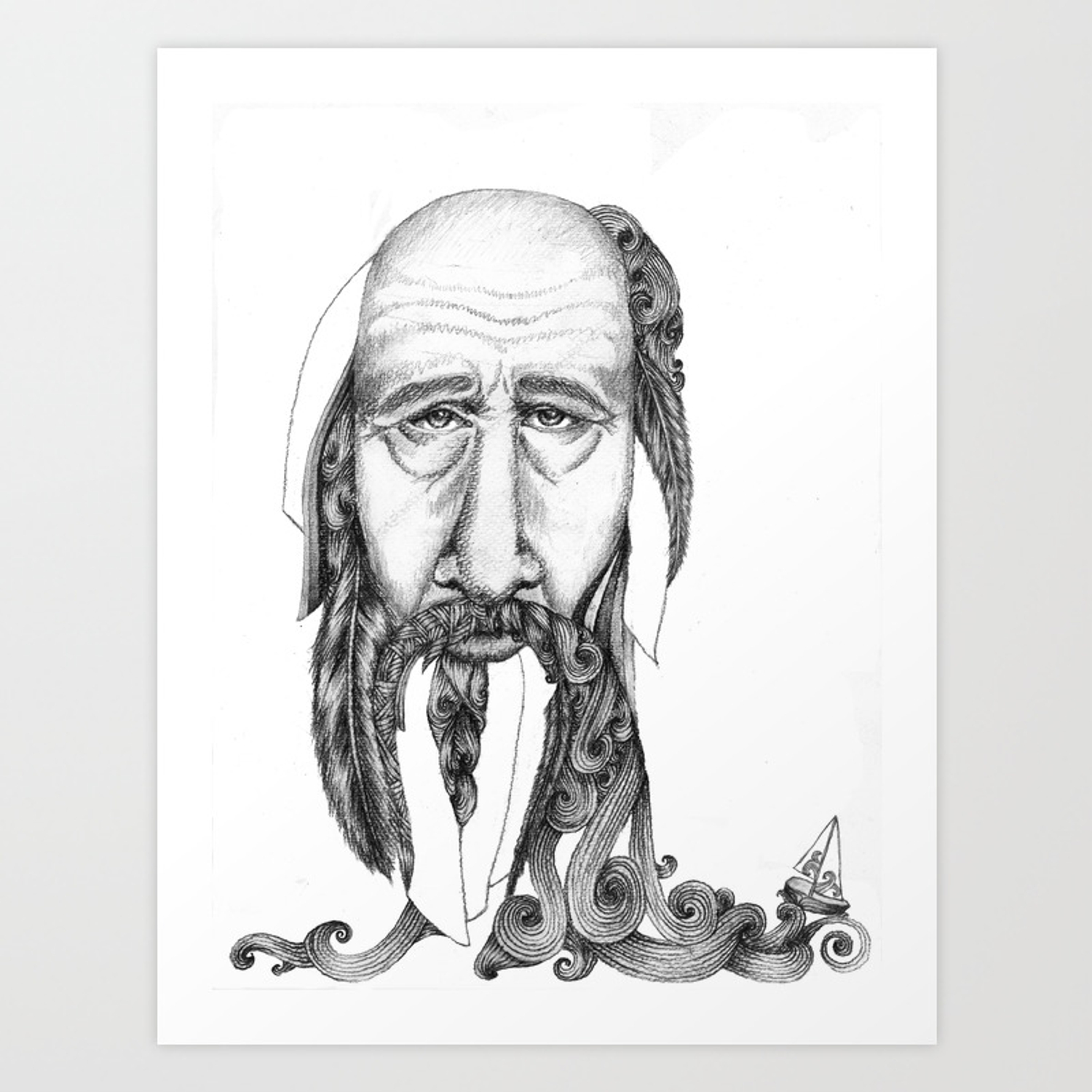 An 87 Year Old Man Feeling A Bit Down And Lonely Art Print By Ragnhildea Society6