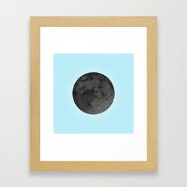 BLACK MOON + BLUE SKY Framed Art Print