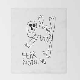 Fear Nothing Throw Blanket