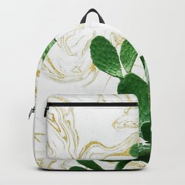 Cactus Opuntia - gold marble Backpack
