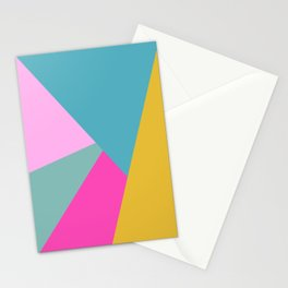 Geometric Color Block #11 Brights Stationery Cards