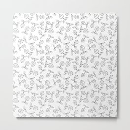 Bacteriophages — Black on White Metal Print