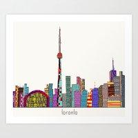 toronto Art Prints featuring Toronto by bri.buckley