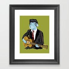 The Rockabilly Dog Framed Art Print