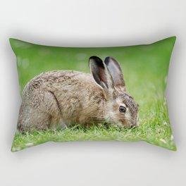 Lepus europaeus young hare Rectangular Pillow