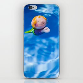 Mermaid in the pool iPhone Skin