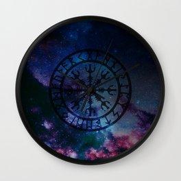 Viking Aegishjalmur - new version Wall Clock