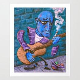 Po Man's Blues Art Print