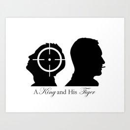 A King and His Tiger Art Print