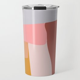 Modern Abstract in Earthy Colors Travel Mug