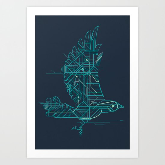 Wind-Up Bird Art Print